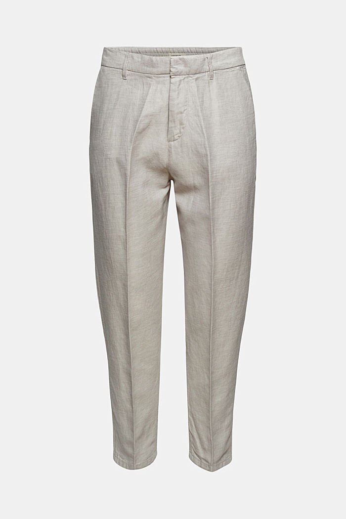 Mit Leinen/Organic Cotton: Jogg-Chino, OFF WHITE, detail image number 7