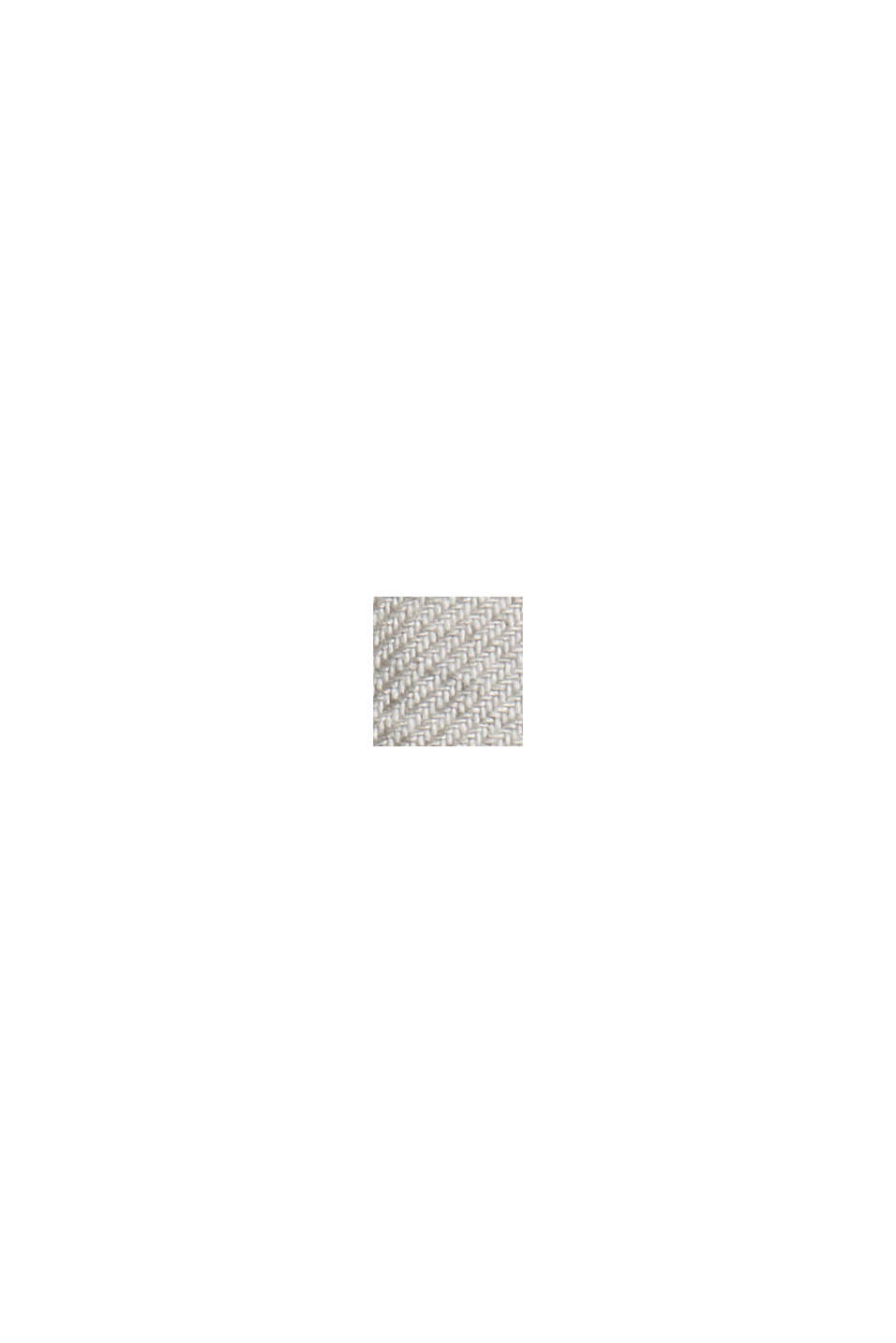 Mit Leinen/Organic Cotton: cropped Jogg-Chino, OFF WHITE, swatch