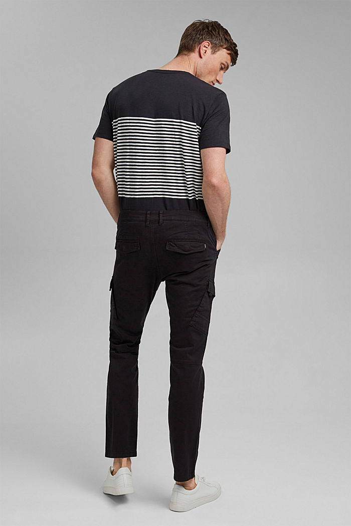 Organic cotton cargo trousers, BLACK, detail image number 3