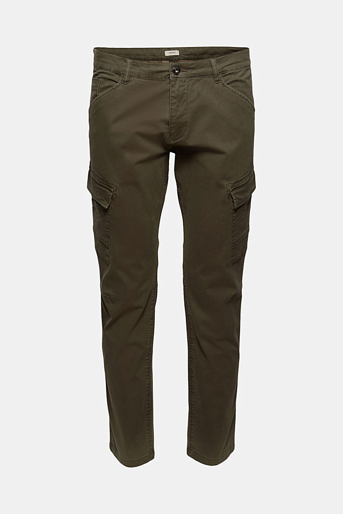 Organic cotton cargo trousers