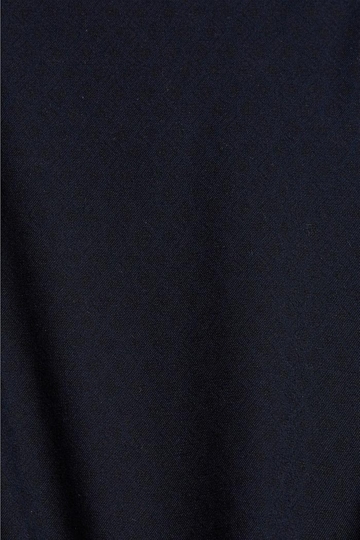 Pantalones cortos con cinturón en algodón ecológico, NAVY, detail image number 4