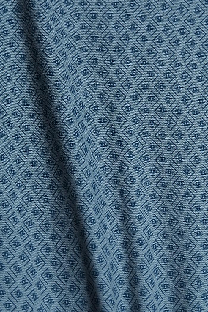 Short à ceinture en coton biologique, GREY BLUE, detail image number 4
