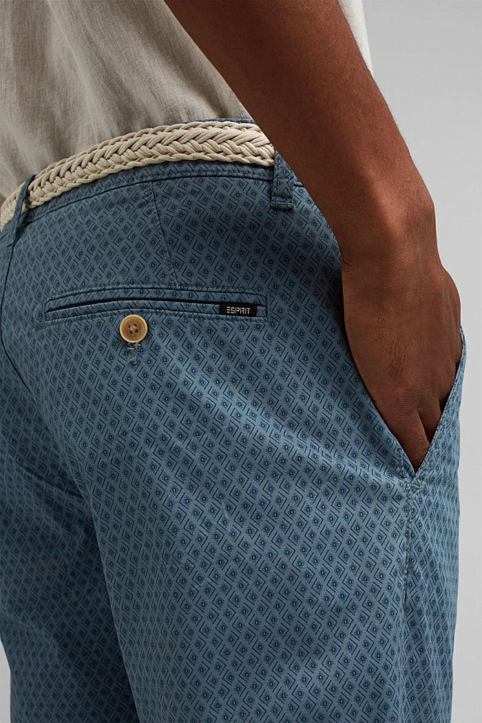 Short à ceinture en coton biologique, GREY BLUE, detail image number 5