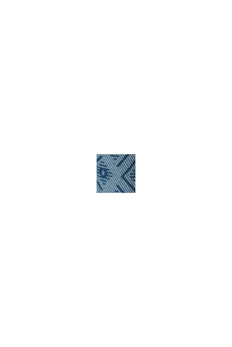 Short met riem van biologisch katoen, GREY BLUE, swatch