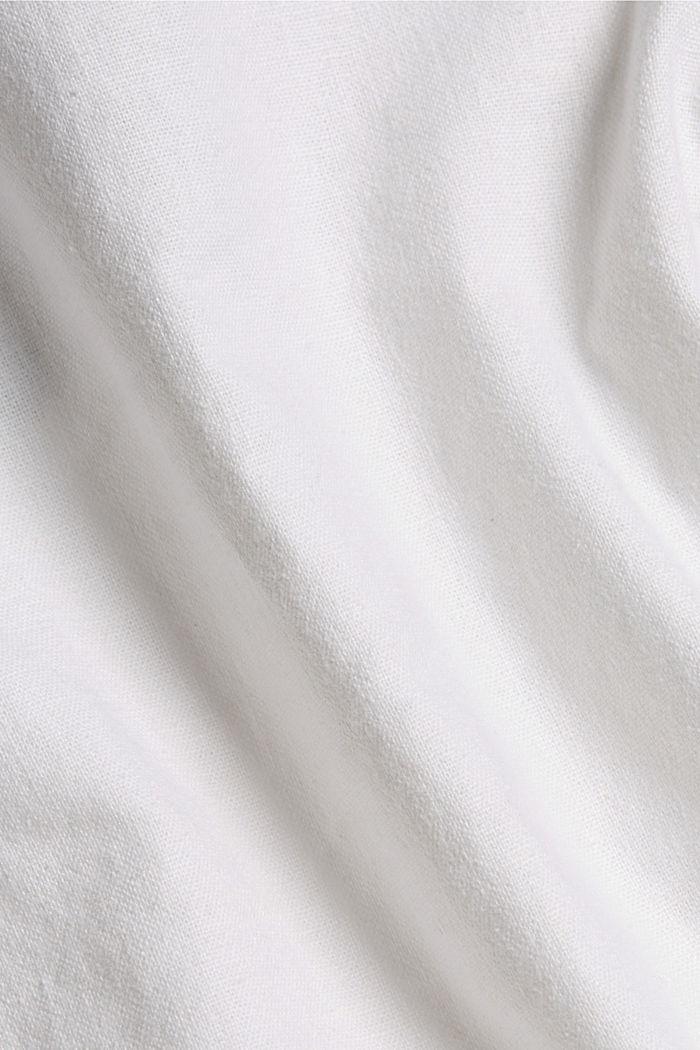 Aus Leinen-Mix: Bermudas mit Flechtgürtel, WHITE, detail image number 4
