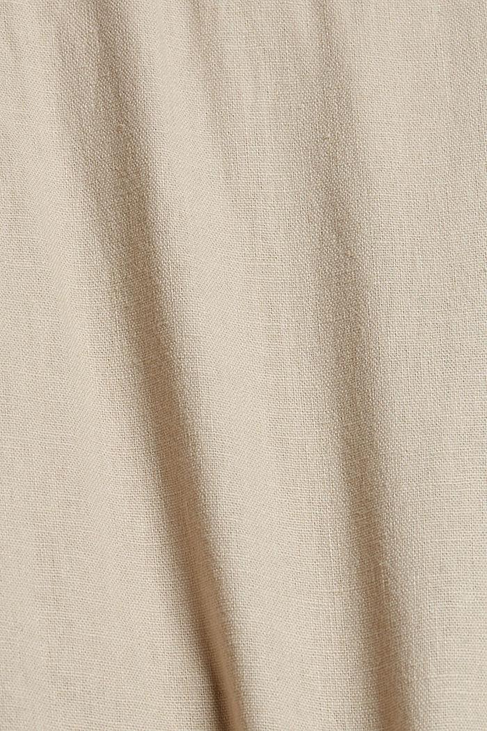 In misto lino: bermuda con cintura intrecciata, LIGHT BEIGE, detail image number 4
