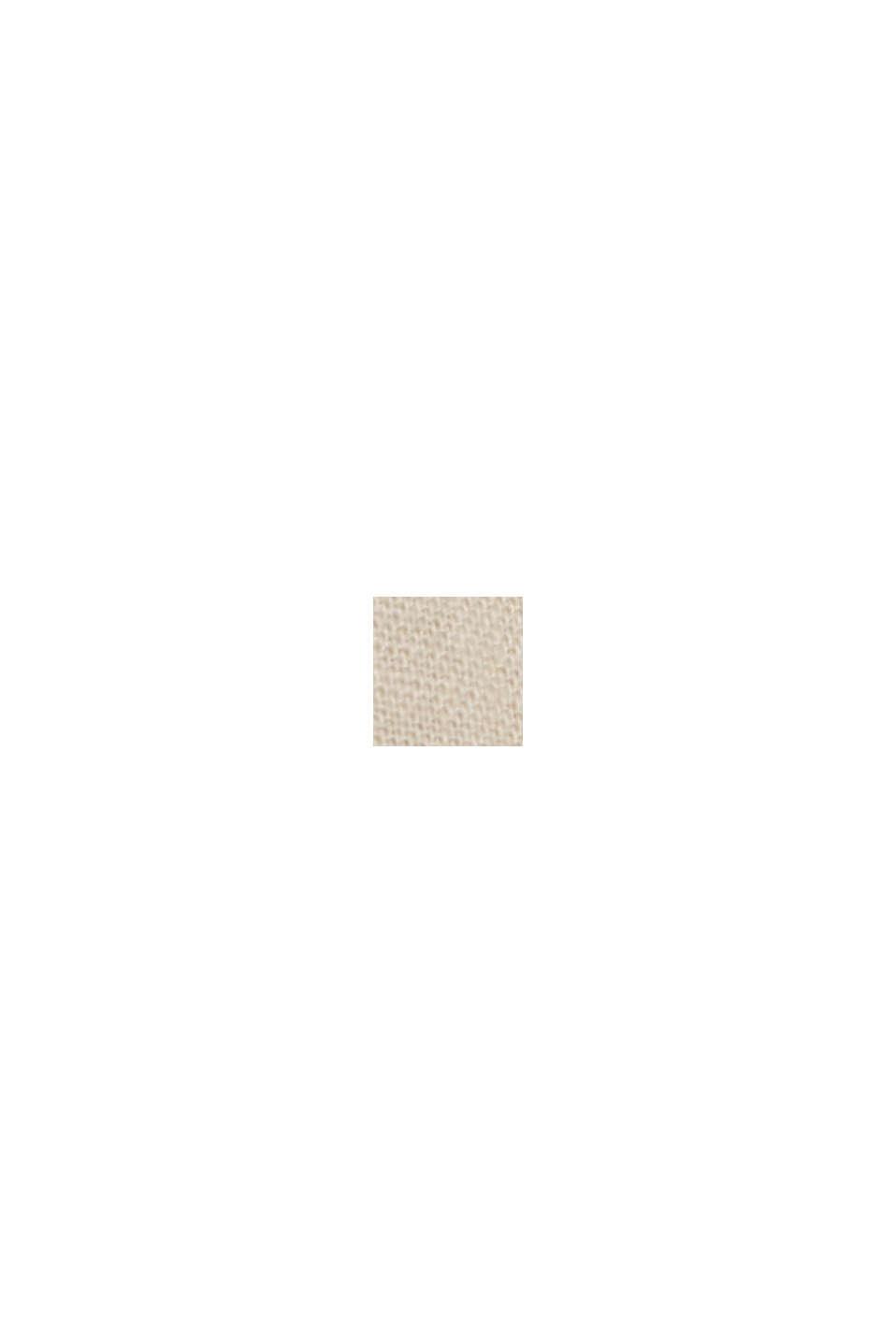 Van een linnenmix: bermuda met gevlochten ceintuur, LIGHT BEIGE, swatch