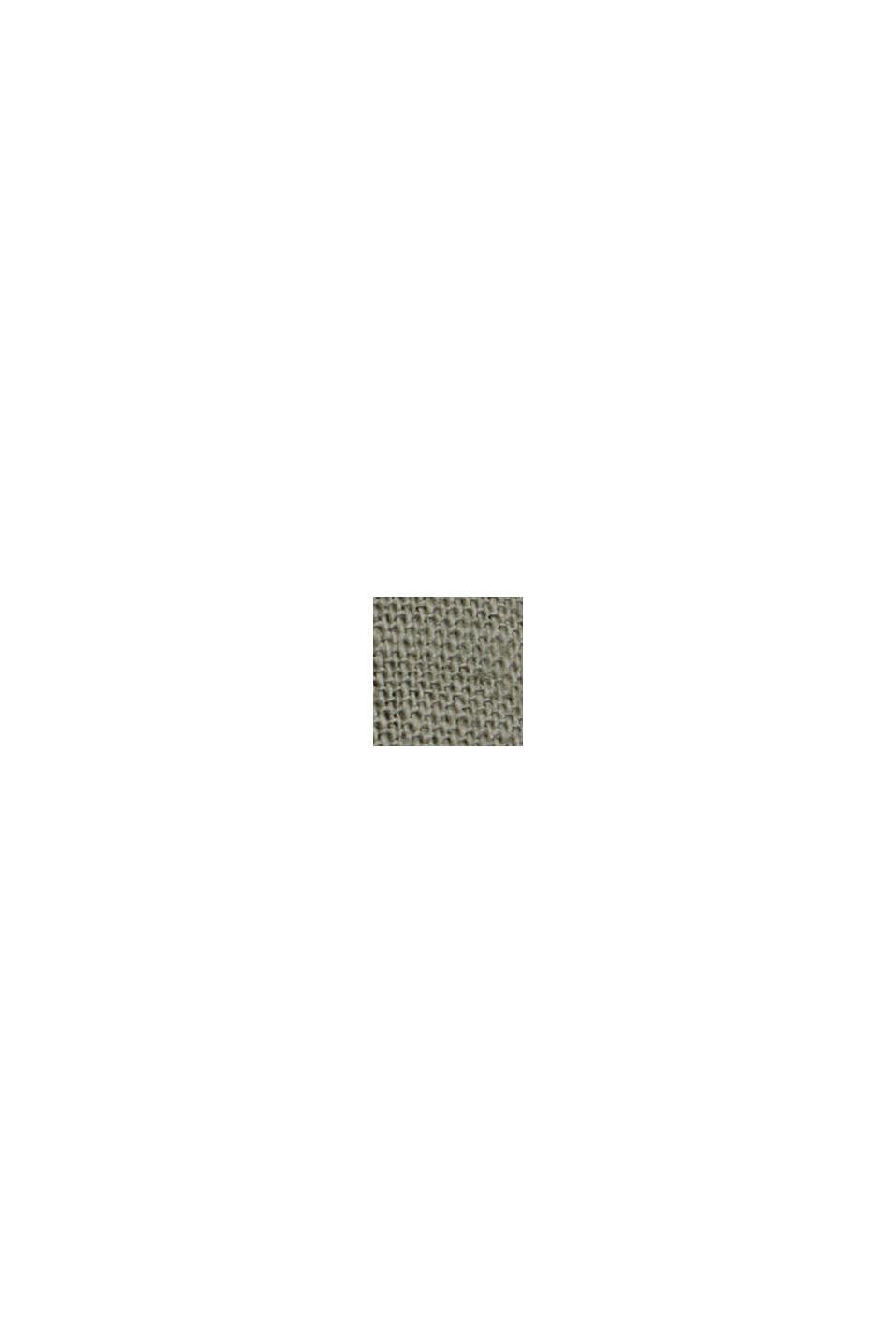 Van een linnenmix: bermuda met gevlochten ceintuur, DUSTY GREEN, swatch