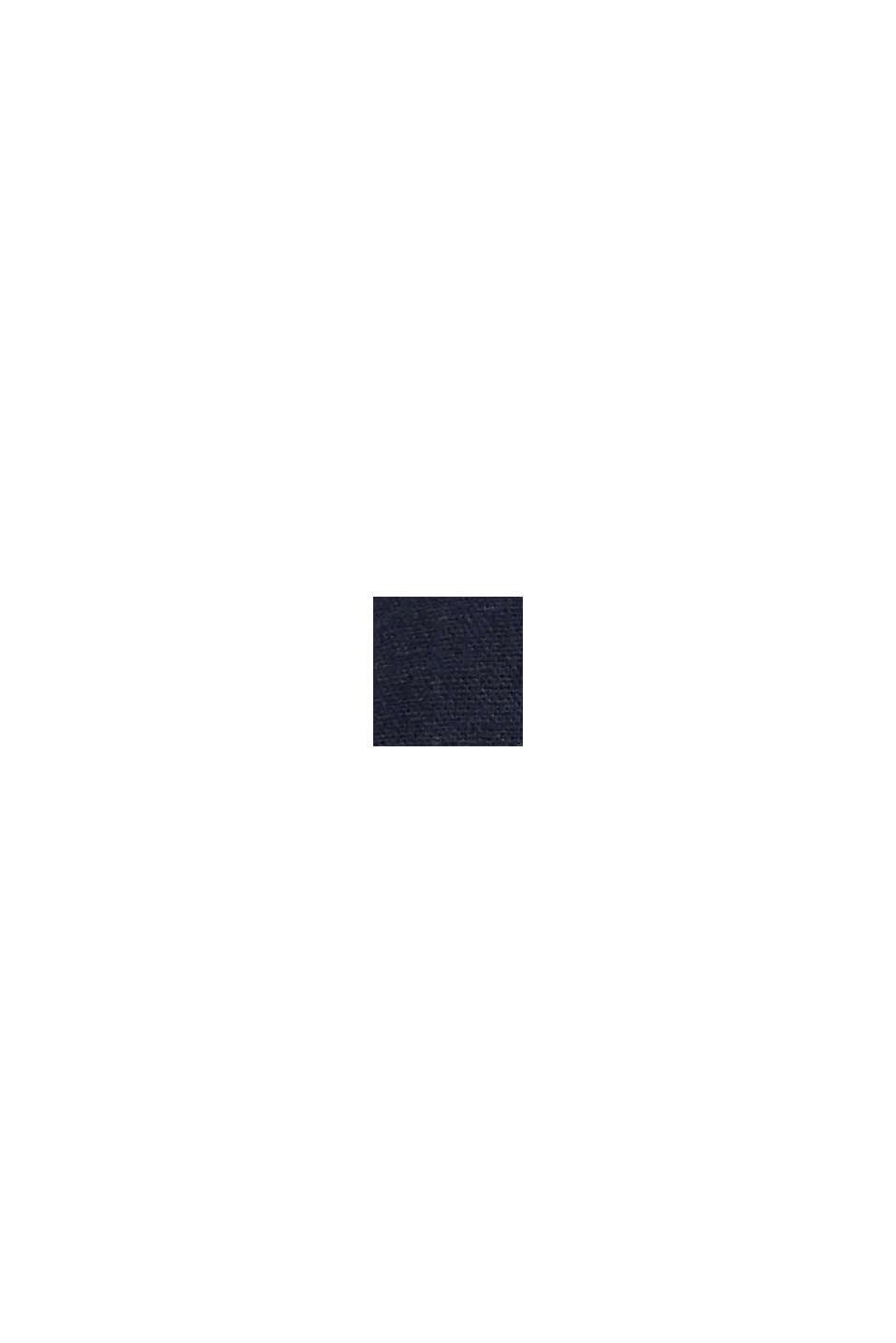 Van een linnenmix: bermuda met gevlochten ceintuur, DARK BLUE, swatch