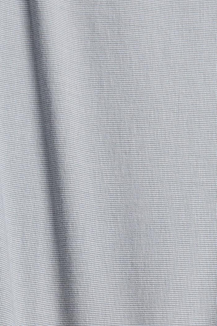 Pantalones cortos de algodón elástico con cinturón, GREY, detail image number 4
