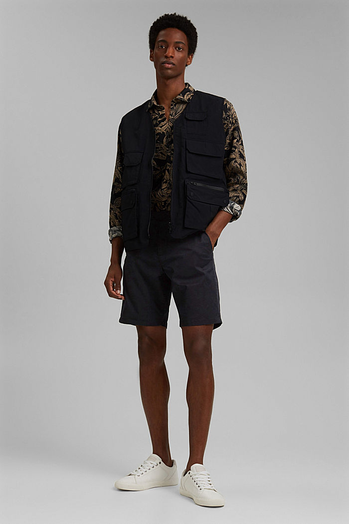 Shorts mit COOLMAX®, Organic Cotton, BLACK, detail image number 1
