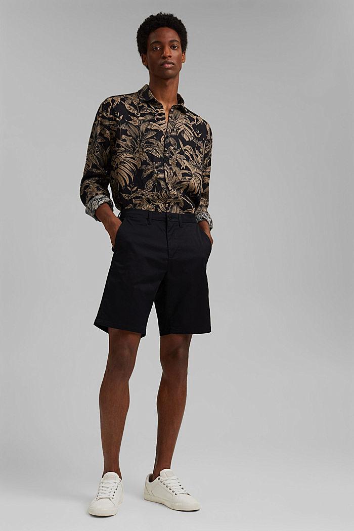 Shorts mit COOLMAX®, Organic Cotton, BLACK, detail image number 5