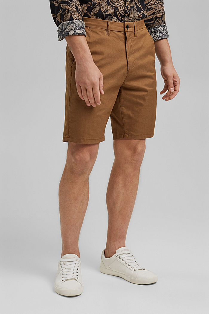 Shorts mit COOLMAX®, Organic Cotton, CAMEL, overview
