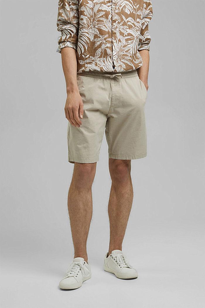 Chambray-Shorts aus Organic Cotton, BEIGE, detail image number 0