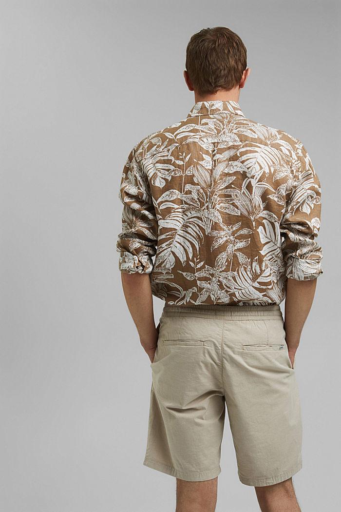 Chambray-Shorts aus Organic Cotton, BEIGE, detail image number 3
