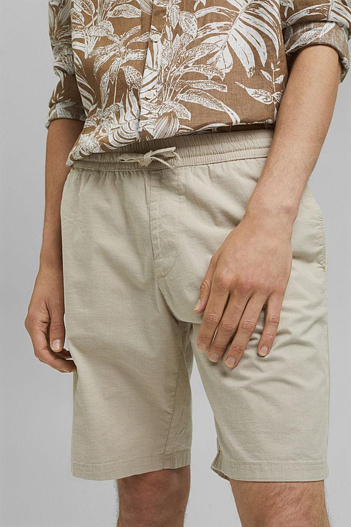 Chambray-Shorts aus Organic Cotton, BEIGE, detail image number 2