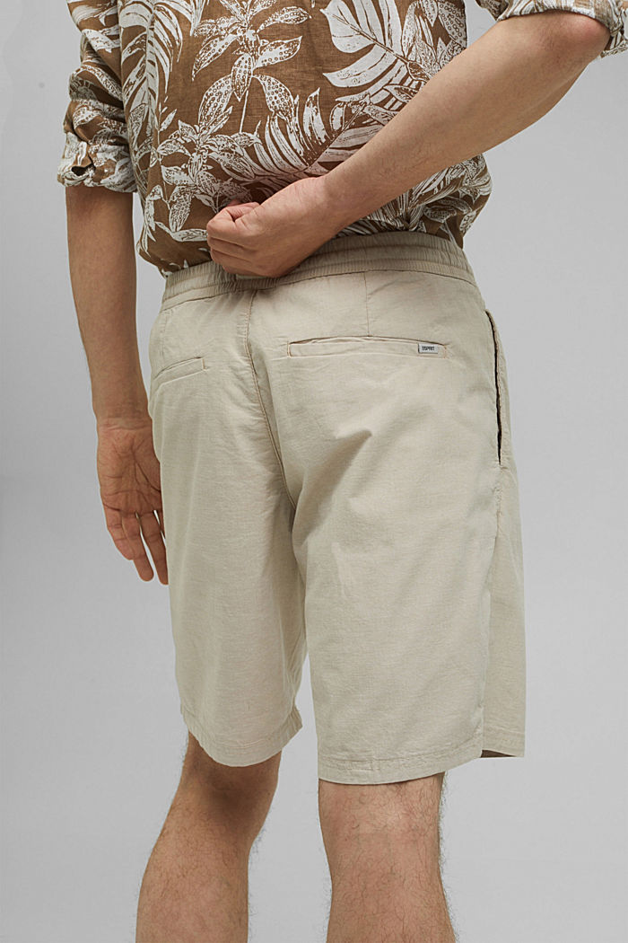 Chambray-Shorts aus Organic Cotton, BEIGE, detail image number 5
