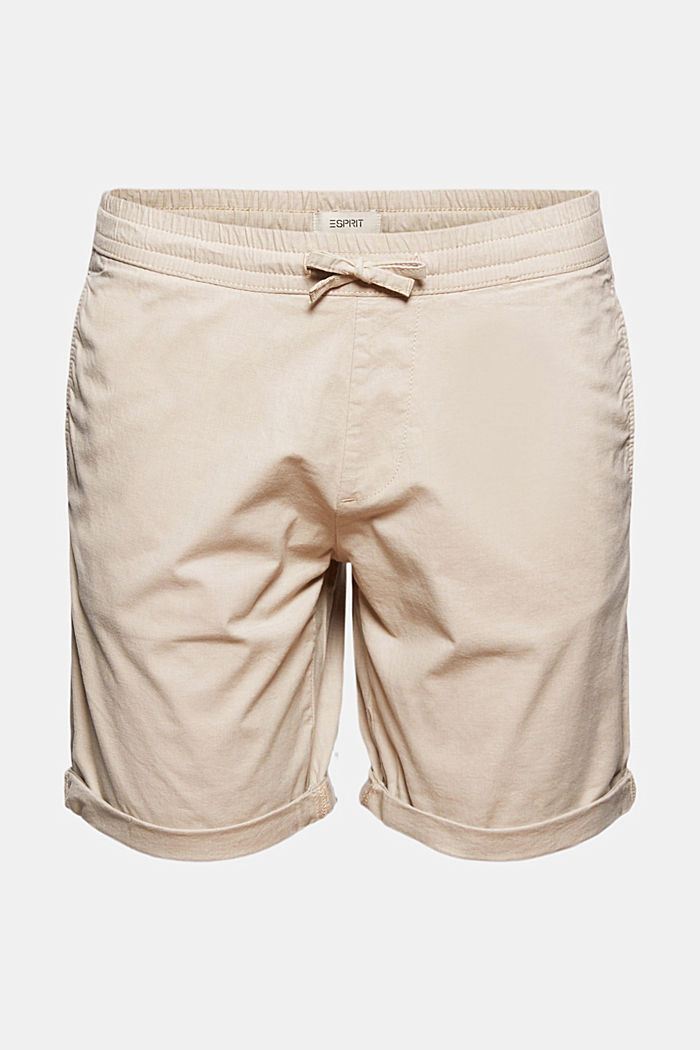 Chambray-Shorts aus Organic Cotton, BEIGE, detail image number 7