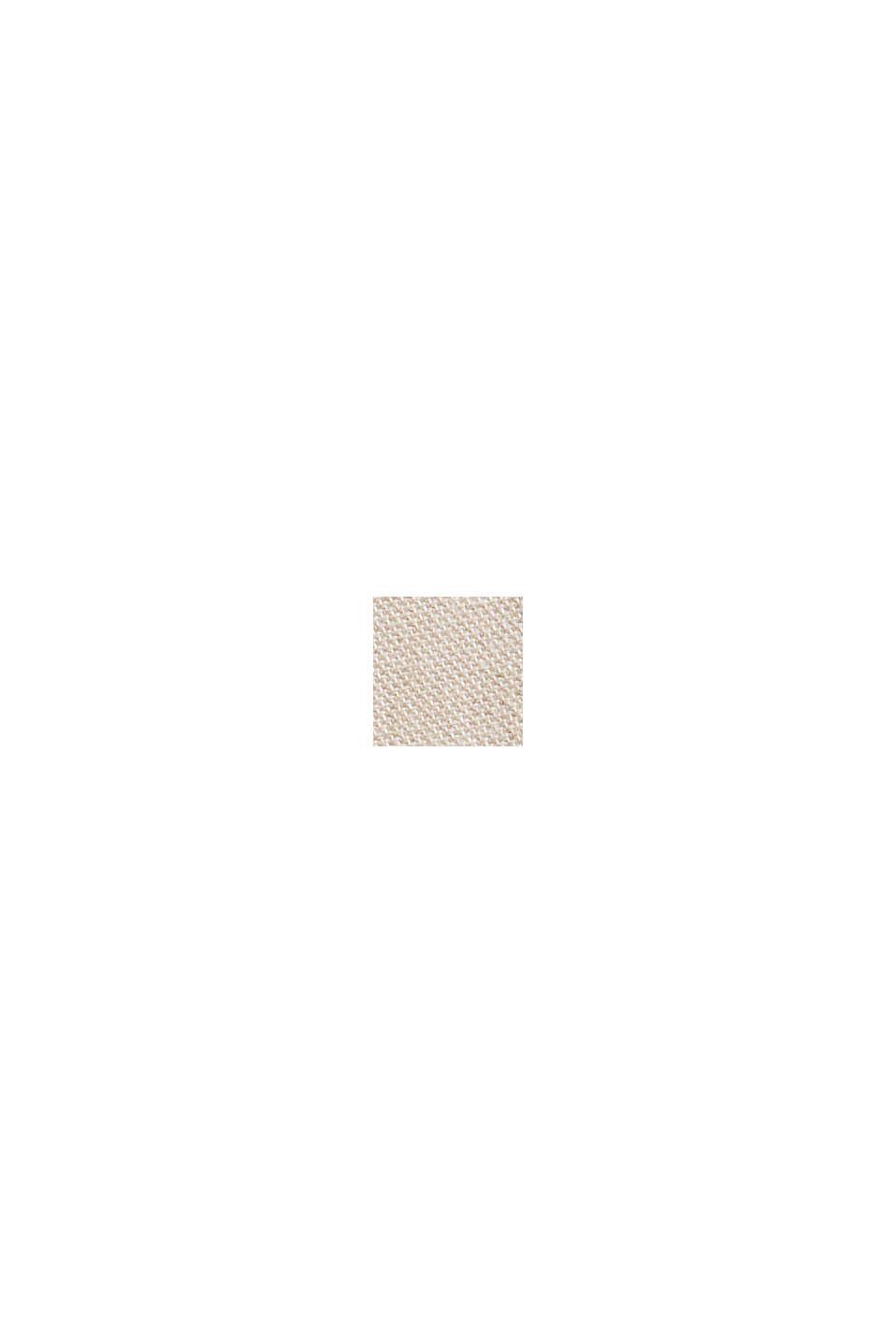 Chambray short van biologisch katoen, BEIGE, swatch