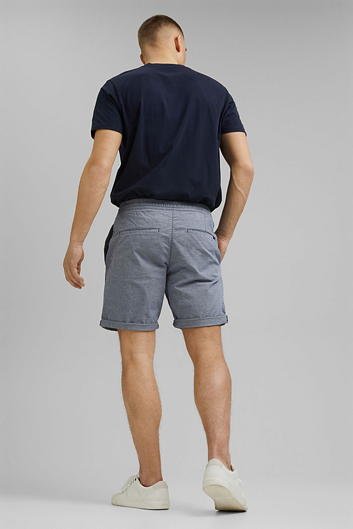 Chambray-Shorts aus Organic Cotton, DARK BLUE, detail image number 3