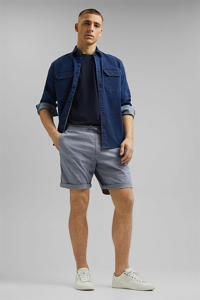 Chambray-Shorts aus Organic Cotton, DARK BLUE, detail image number 1