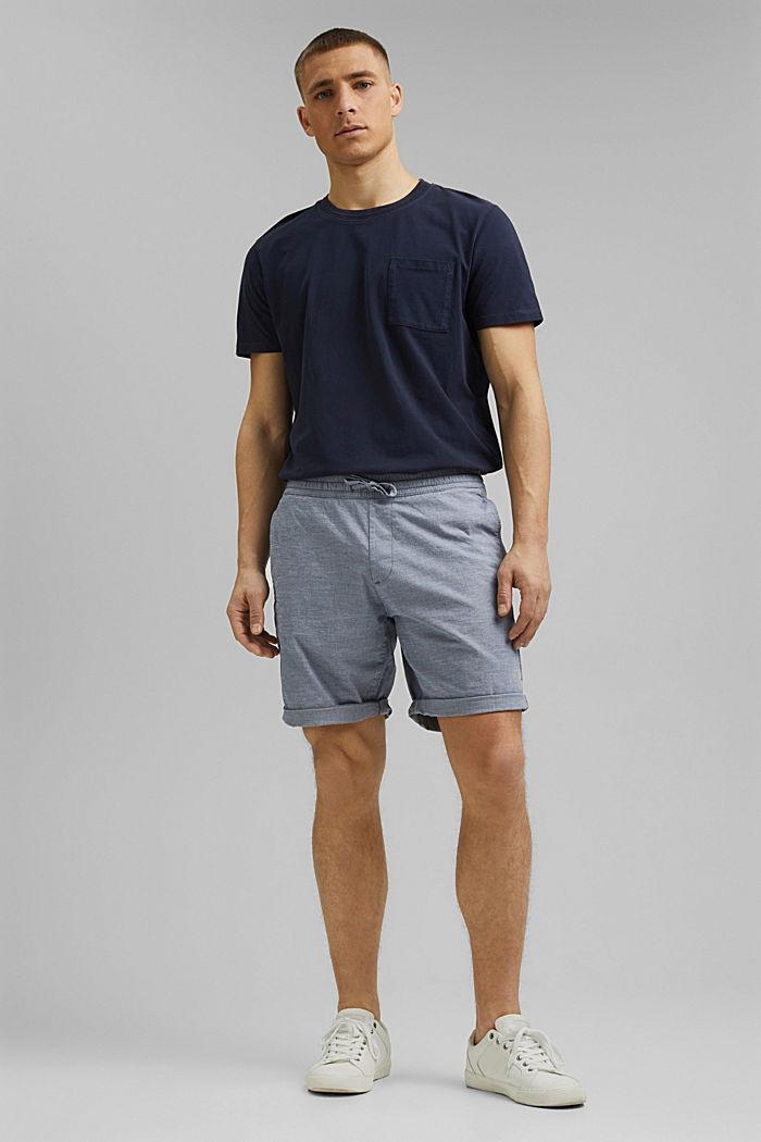 Chambray-Shorts aus Organic Cotton, DARK BLUE, detail image number 7