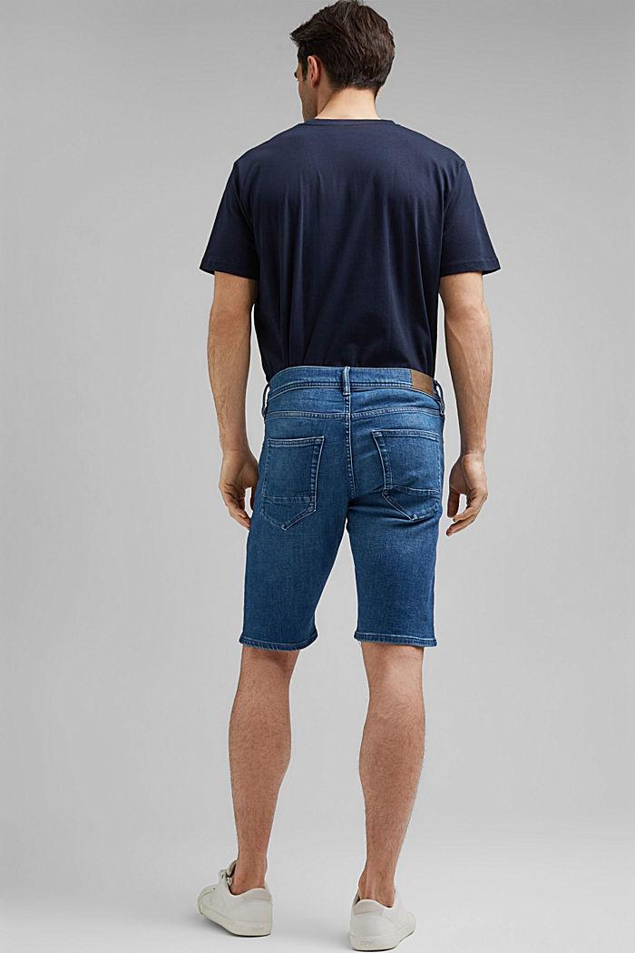 Short en jean à technologie COOLMAX®, coton bio, BLUE MEDIUM WASHED, detail image number 3