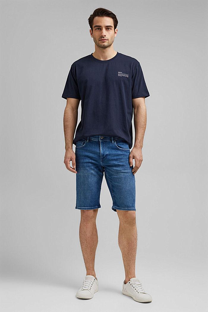 Short en jean à technologie COOLMAX®, coton bio, BLUE MEDIUM WASHED, detail image number 1