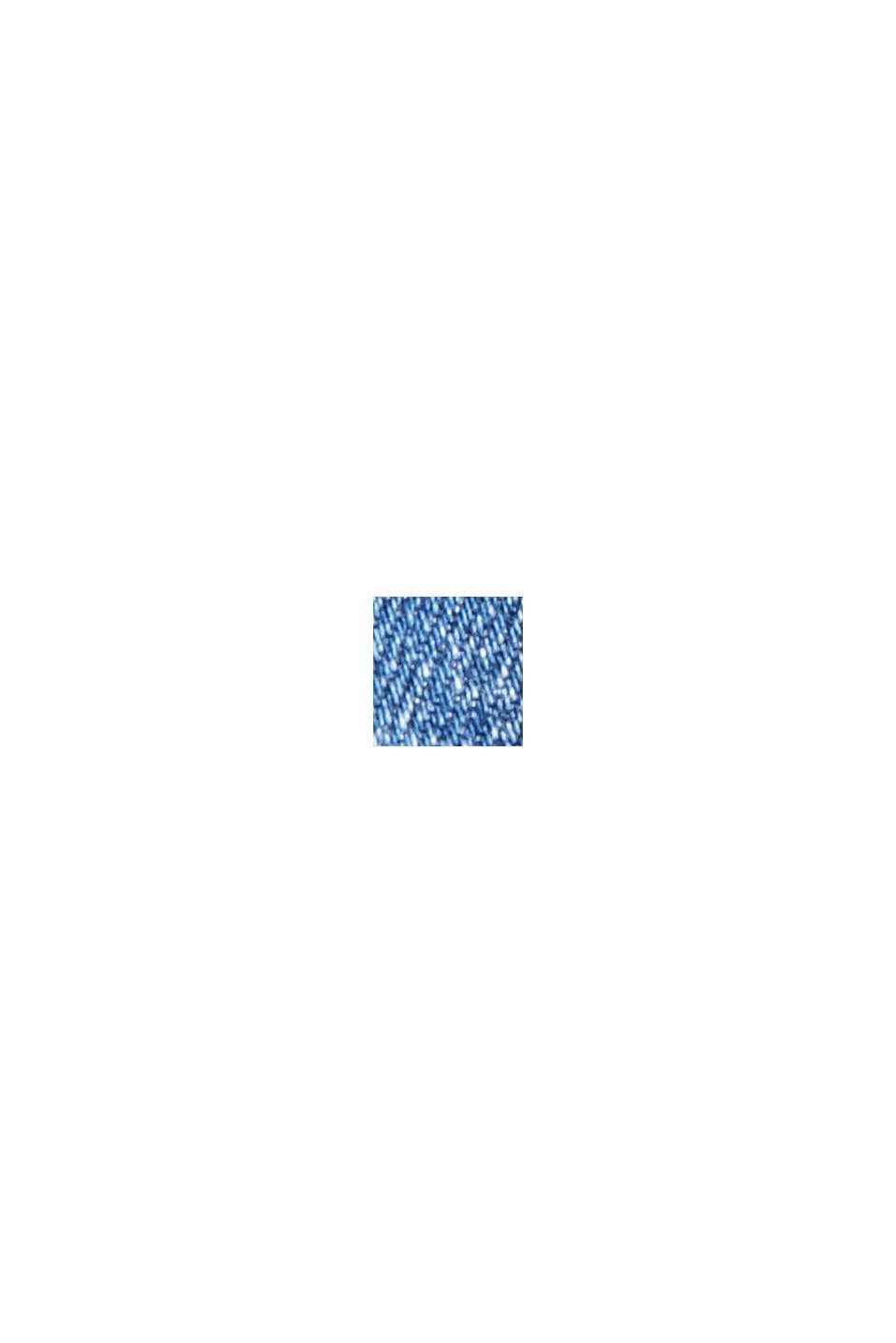 Denim met short met COOLMAX®, biologisch katoen, BLUE MEDIUM WASHED, swatch