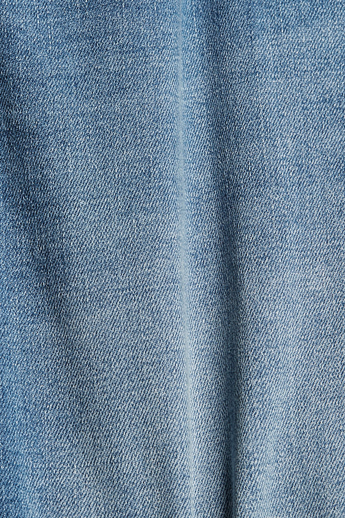 Jeans-Shorts mit COOLMAX®, Organic Cotton, BLUE LIGHT WASHED, detail image number 5