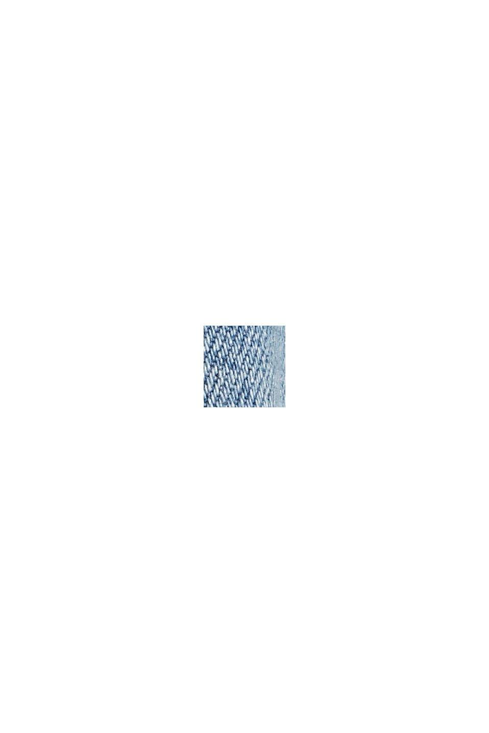 Denim met short met COOLMAX®, biologisch katoen, BLUE LIGHT WASHED, swatch