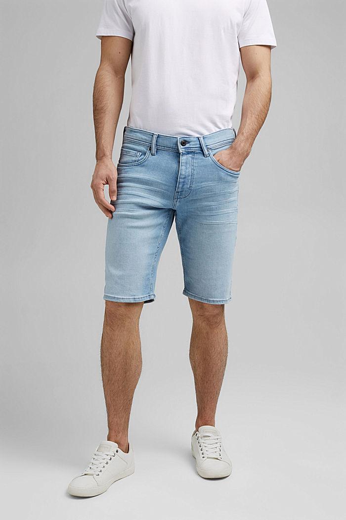 Jeans-Shorts mit COOLMAX®, Organic Cotton, BLUE BLEACHED, detail image number 0