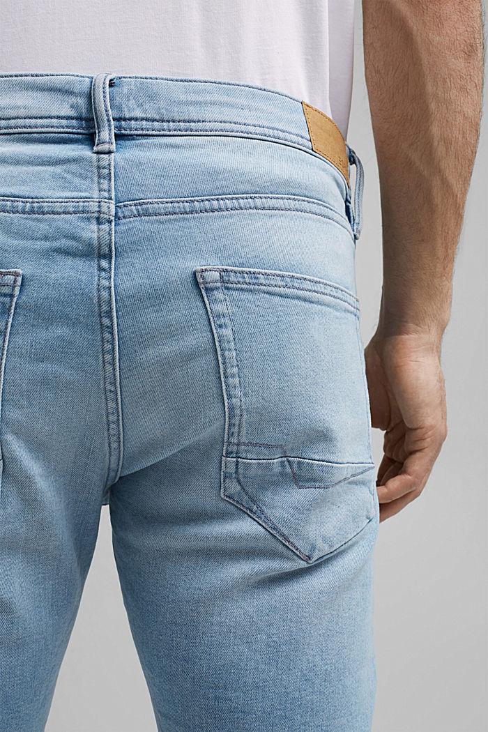 Jeans-Shorts mit COOLMAX®, Organic Cotton, BLUE BLEACHED, detail image number 5
