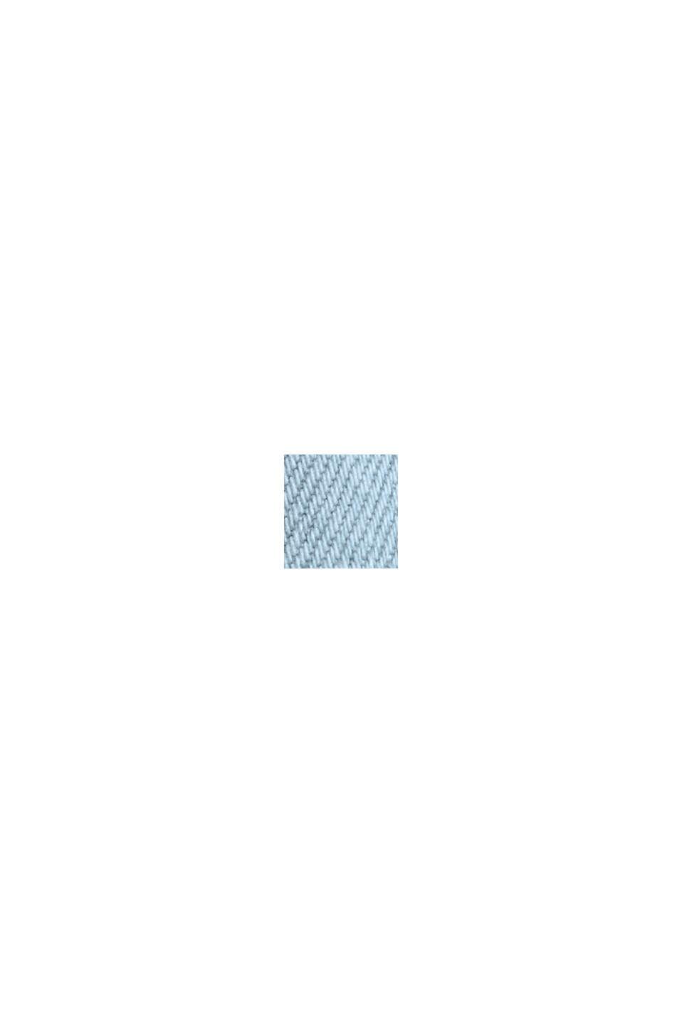 Denim met short met COOLMAX®, biologisch katoen, BLUE BLEACHED, swatch