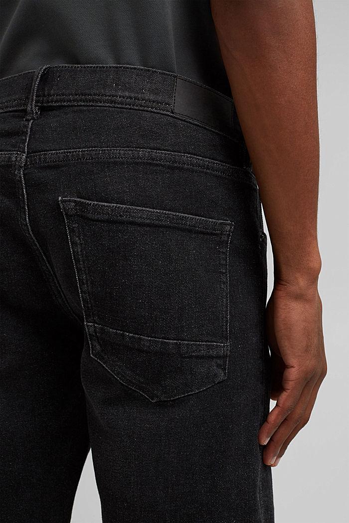 Short en jean à teneur en coton biologique, DARK GREY WASHED, detail image number 5