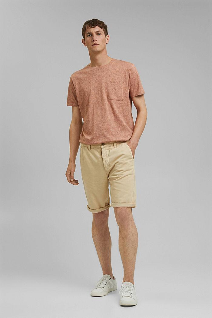 #ReimagineNaturalLifestyle: le short coton bio, BEIGE, detail image number 1