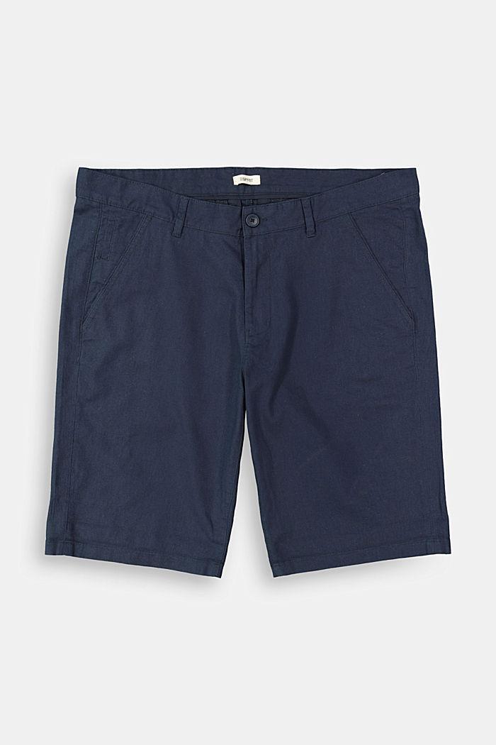 Linen blend: Bermuda shorts, DARK BLUE, detail image number 1