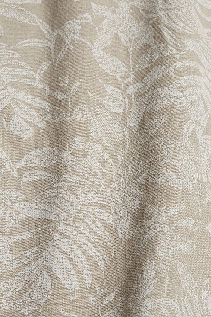 Shorts con estampado botánico, algodón ecológico, BEIGE, detail image number 4