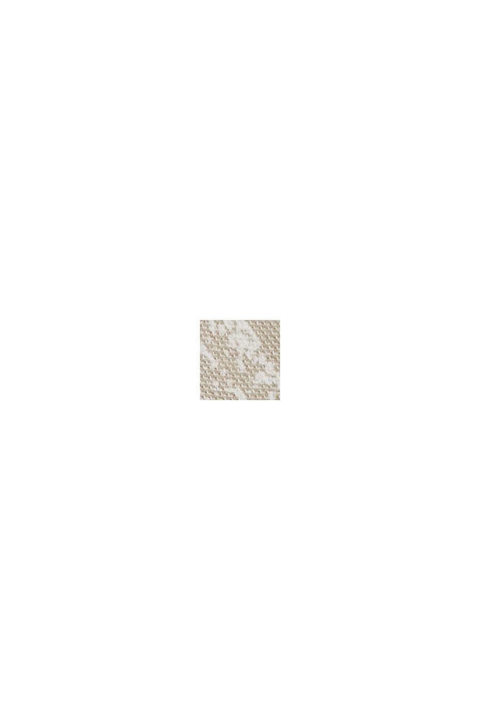 Short à imprimé botanique, coton biologique, BEIGE, swatch