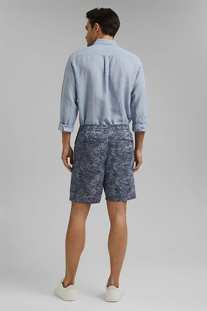 Shorts mit Botanik-Print, Organic Cotton, DARK BLUE, detail image number 3
