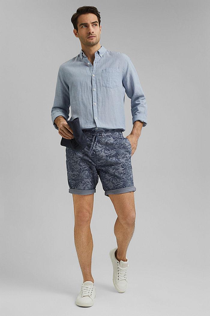 Shorts mit Botanik-Print, Organic Cotton
