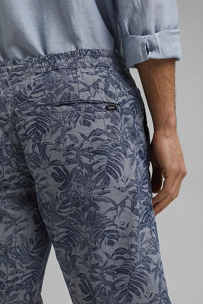Shorts mit Botanik-Print, Organic Cotton, DARK BLUE, detail image number 5
