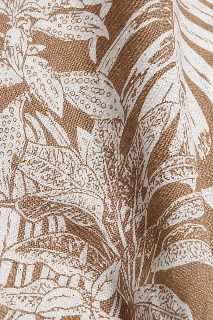 100% Leinen: Premium Hemd mit Botanik-Print, CAMEL, detail image number 4