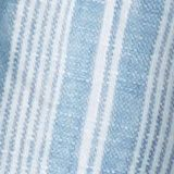 Made of linen: striped shirt with a stand-up collar, PETROL BLUE, swatch