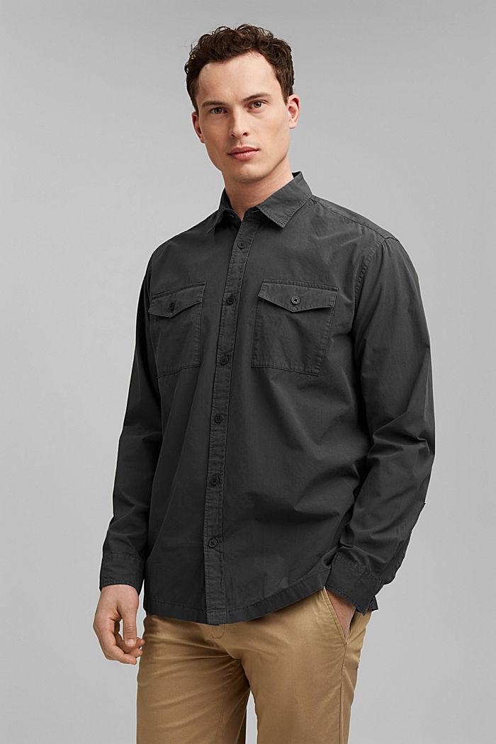 #ReimagineNaturalLifestyle: Hemd aus Baumwolle, BLACK, detail image number 0