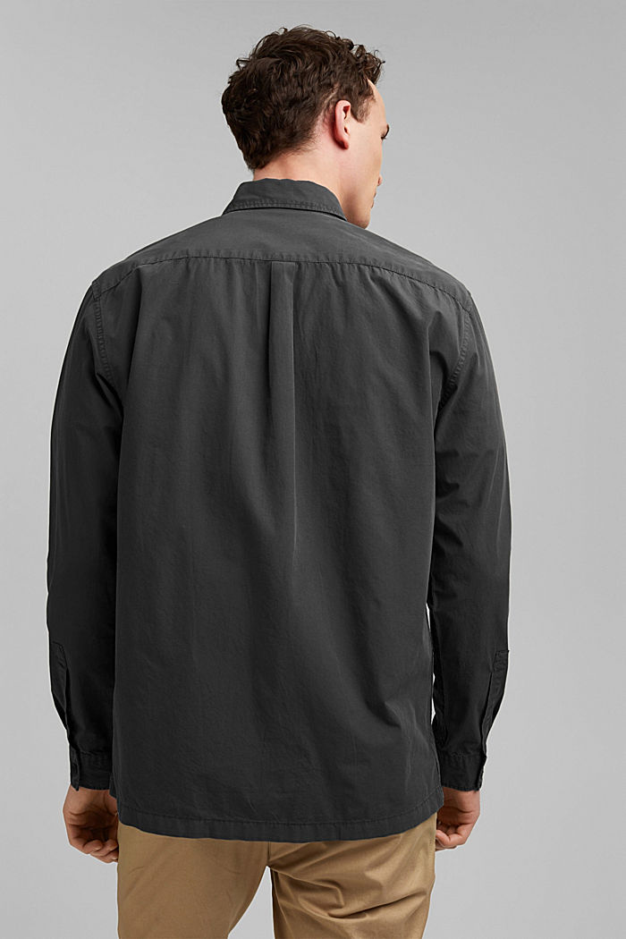 #ReimagineNaturalLifestyle: Hemd aus Baumwolle, BLACK, detail image number 3