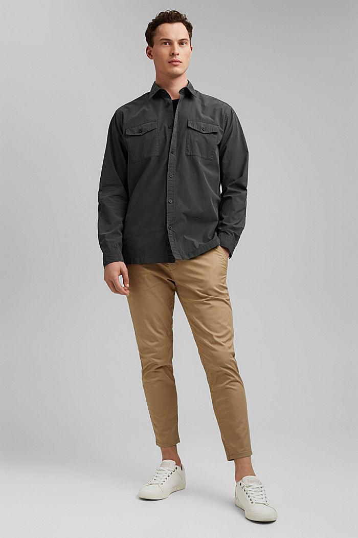 #ReimagineNaturalLifestyle: Hemd aus Baumwolle, BLACK, detail image number 7