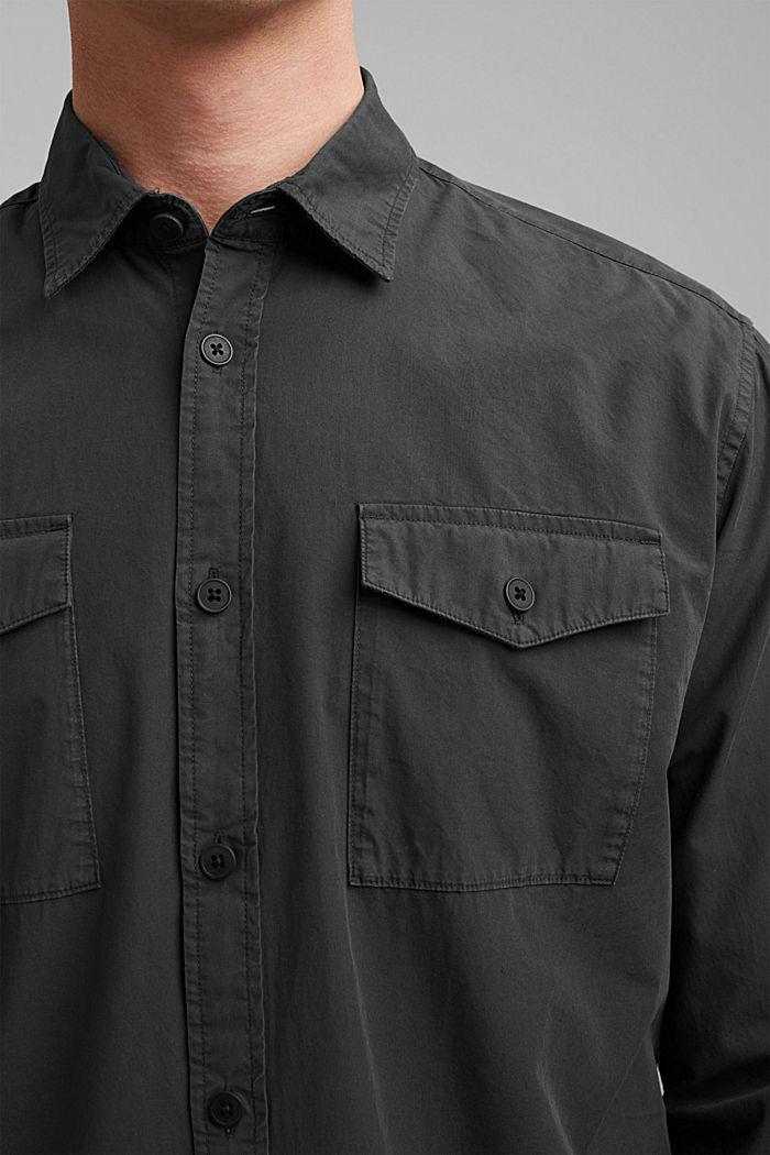 #ReimagineNaturalLifestyle: Hemd aus Baumwolle, BLACK, detail image number 2