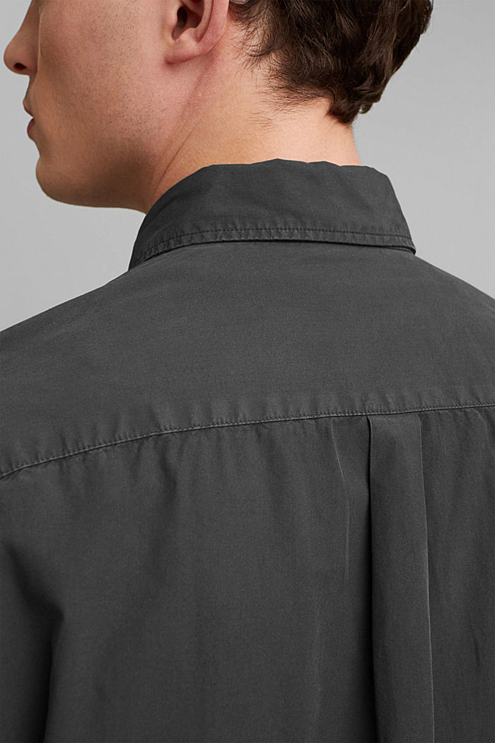 #ReimagineNaturalLifestyle: Hemd aus Baumwolle, BLACK, detail image number 5