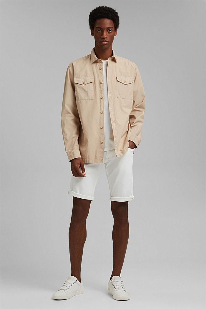 #ReimagineNaturalLifestyle: chemise en coton, LIGHT BEIGE, detail image number 1